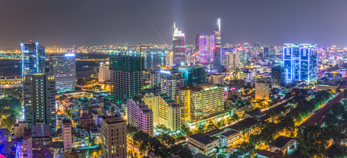 View from Shri In Ho Chi Minh City