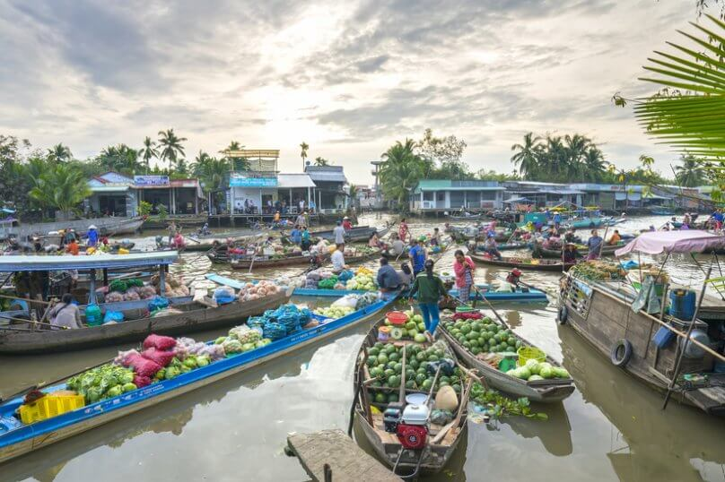 Cai Rang Floating Market in Can Tho