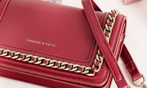 Charles & Keith red bag