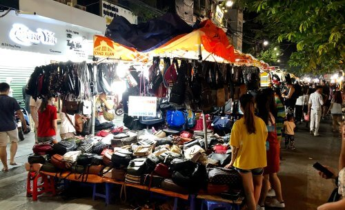 A corner of Hanoi night market
