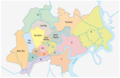 Ho Chi Minh City Districts