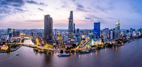 A view of Ho Chi Minh City at night