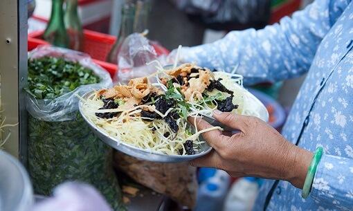 Green Papaya Salad in Ho Chi Minh City