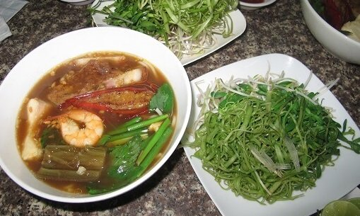 Funky Fish Soup in Southern Vietnam on our Food Tour in Ho Chi Minh