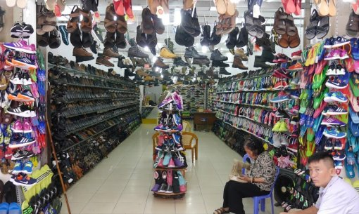 Women Shoes in Small shop in Ho Chi Minh City