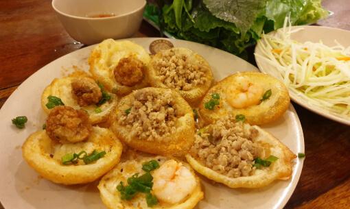 Vietnamese Banh Xeo on our Walking Food Tour