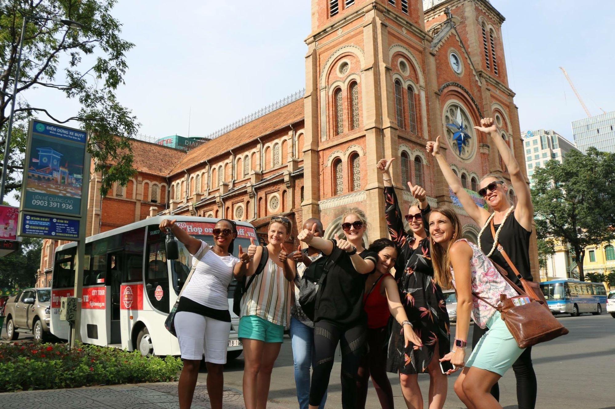 Tourists in Saigon